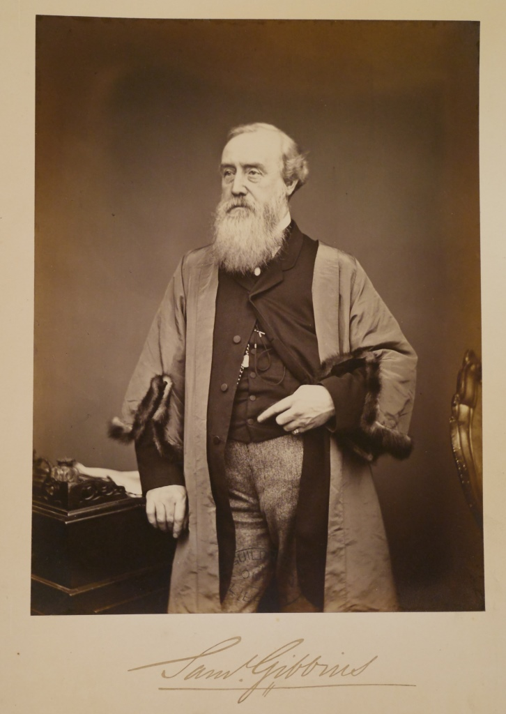 My great-great-great grandfather Samuel Gibbins, photographed on becoming a Common Councillor of the City of London in the 1860s.