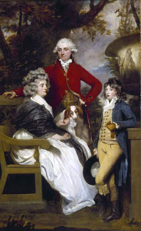 'The Braddyll Family', by Sir Joshua Reynolds, 1789 (Fitzwilliam Museum, Cambridge). Jane Gale and Wilson Braddyll (who had changed his name from Gale) were cousins, both grandchildren of my ancestor John Gale of Whitehaven. The boy, later Lieutenant Colonel Thomas Richmond-Gale-Braddyll, served in the Peninsular War against Napoleon and became a Member of Parliament, as his father had been.