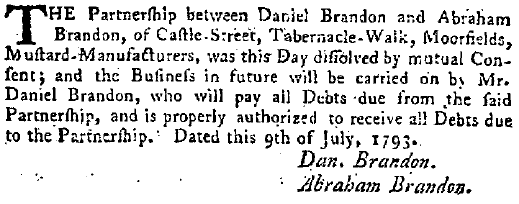 From The London  Gazette  of 1793.