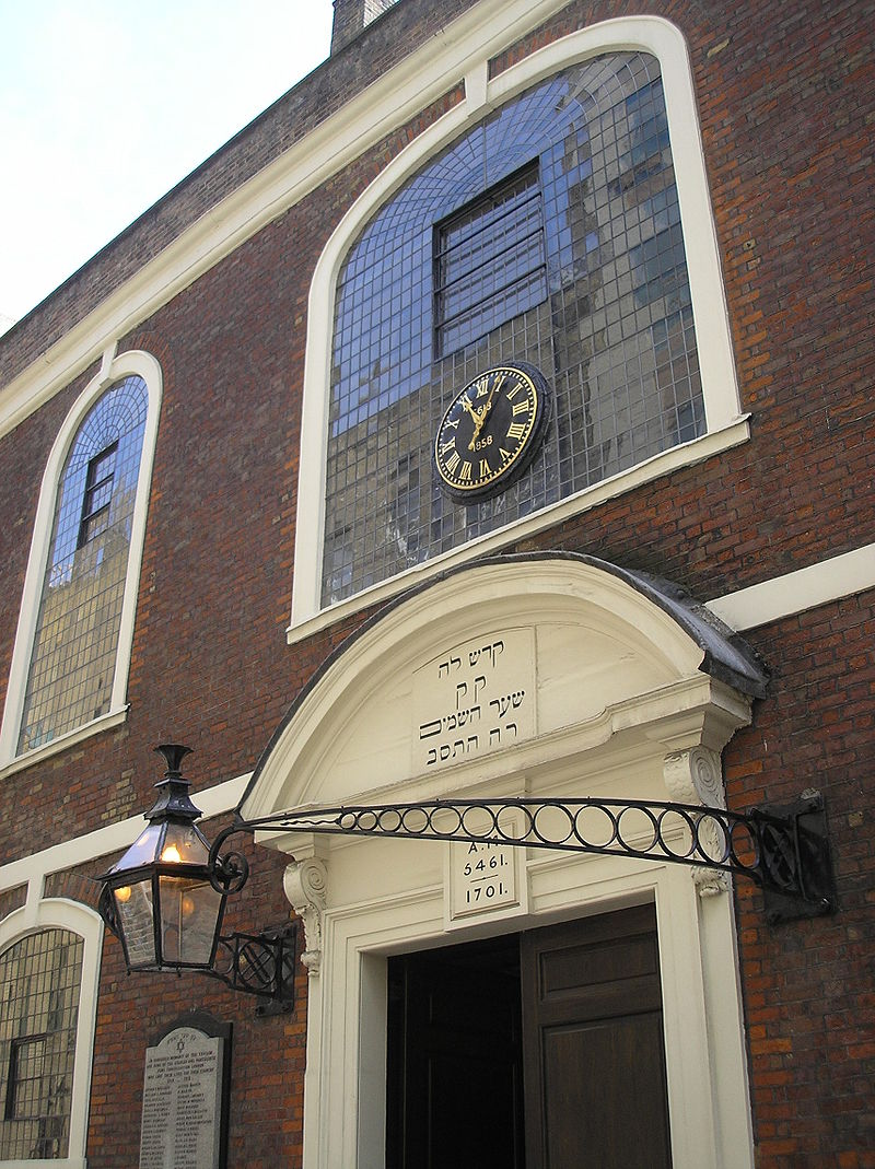 The Bevis Marks Synagogue, built in 1701, was one of few buildings in the vicinity not to be damaged by bombing during the Second World War, and remains much as it would have appeared when Rebecca and her family formed part of the congregation in the late 18th century.