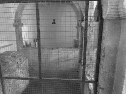 A cell in the Inquisition buildings at Coimbra, where members of the Brandão family were held for up to three years.