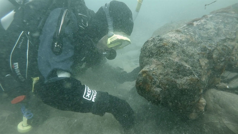 As well as the personal Facebook page that you can read above, I co-manage another page, Cornwall Maritime Archaeology, to report on an ongoing programme of shipwreck investigation that I have established with Mark Milburn off south-west England. The picture above take by Mark shows me with one of our finds last year, an 18th century cannon wreck. Follow that page to keep up-to-date with our discoveries!