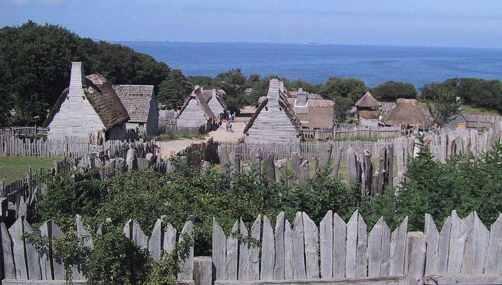 Plimoth Plantation, the living history museum at Plymouth, Massachusetts, that attempts to replicate the colony as it would have been about the time that Thomas Prence arrived in 1621.