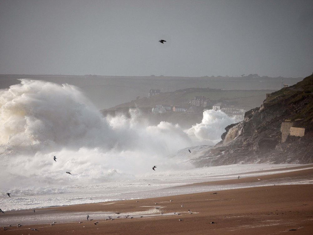 Storm Ophelia at Loe Bar, 16 October 2017
