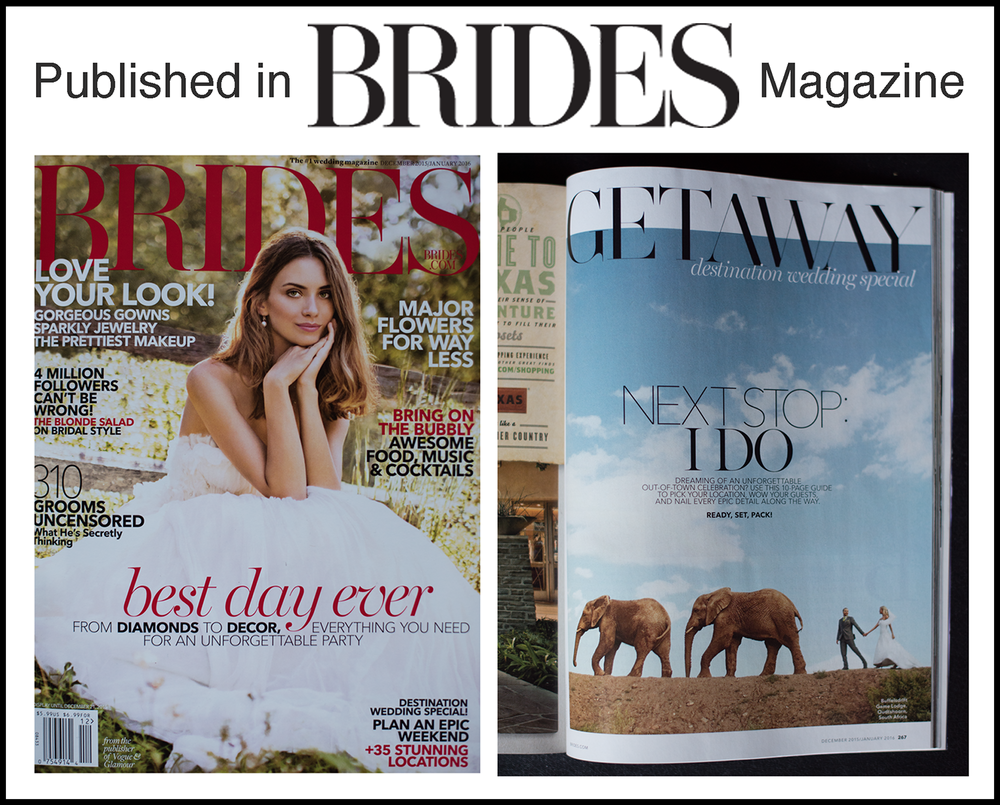 Published in BRIDES magazine!