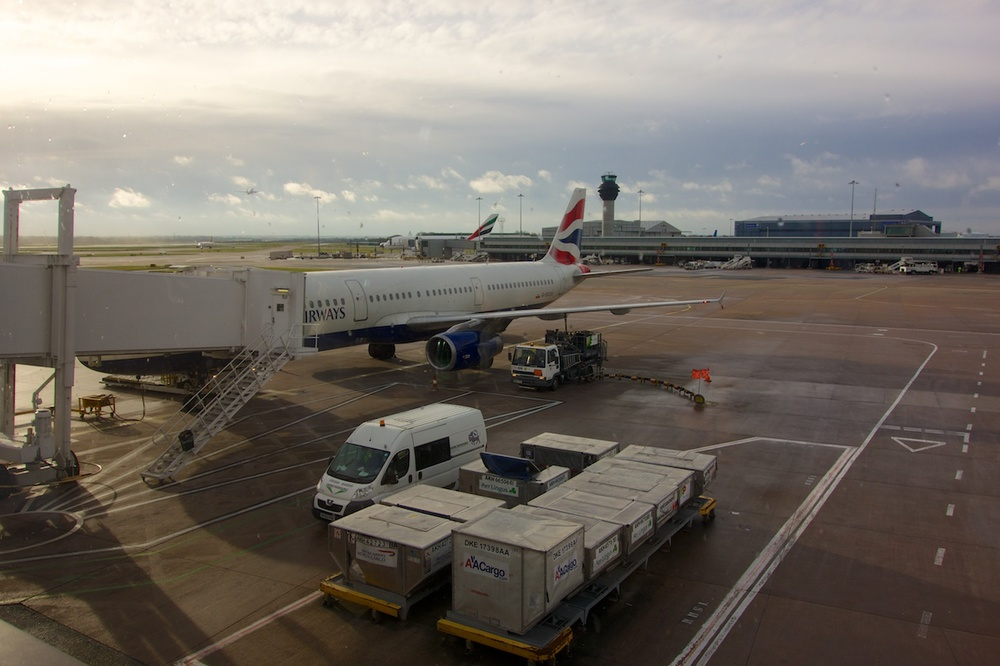 BA 1375, about to carry me from Manchester to London, 4 January 2014.