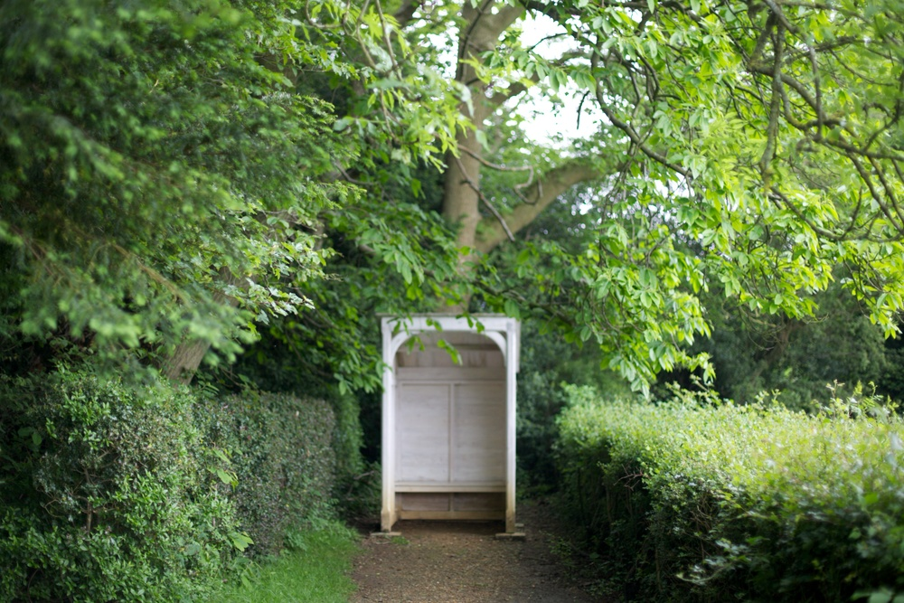 The viewpoint at the middle of Charles Darwin's Sandwalk, Down House, Kent, 30 May.