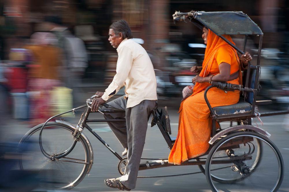 Orange Sari