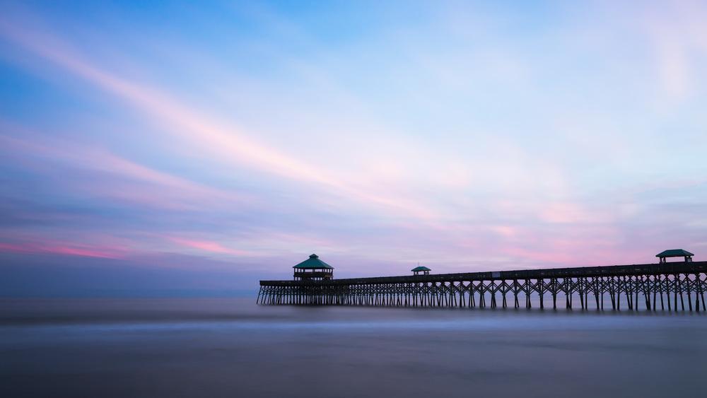 Folly Beach Pier at Sunset