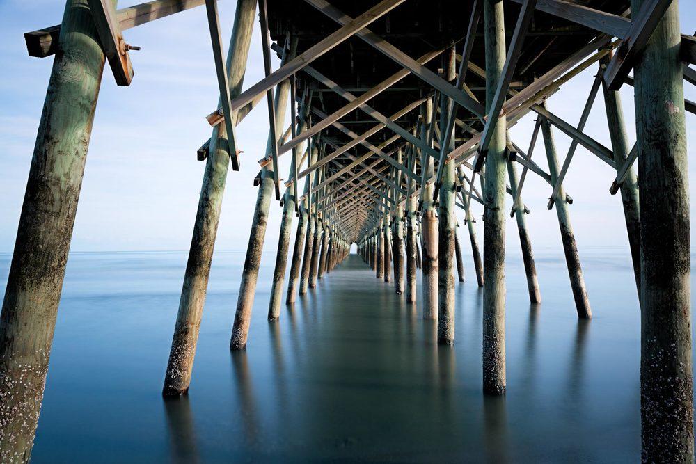 Under Folly Beach Pier