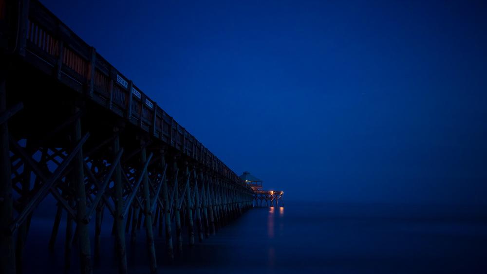 Folly Beach Pier at Twilight