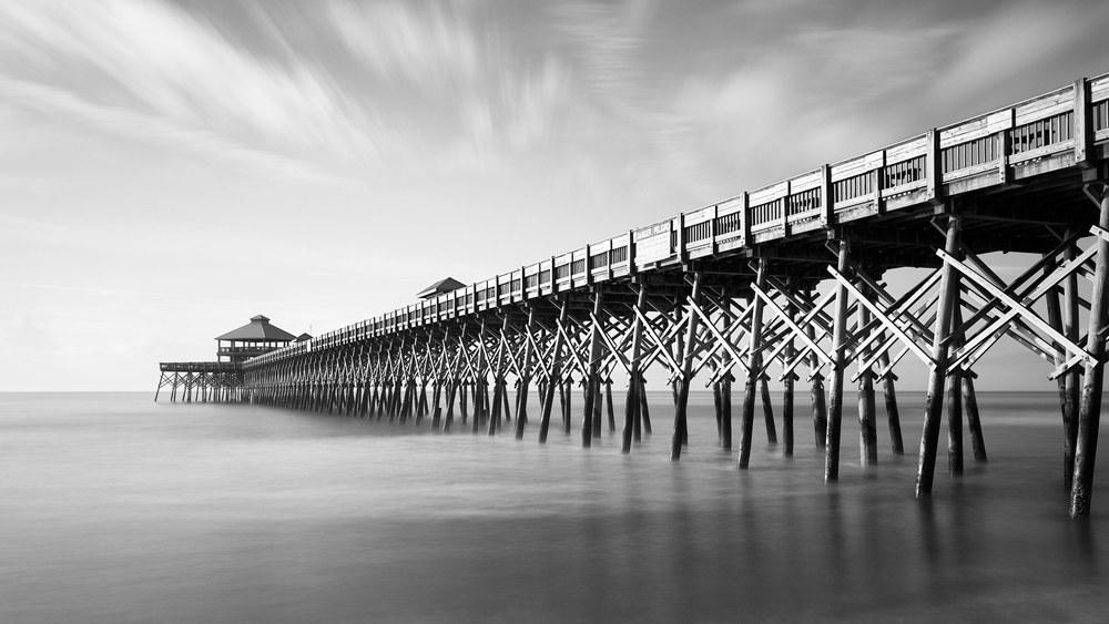 Folly Beach Pier at Sunrise