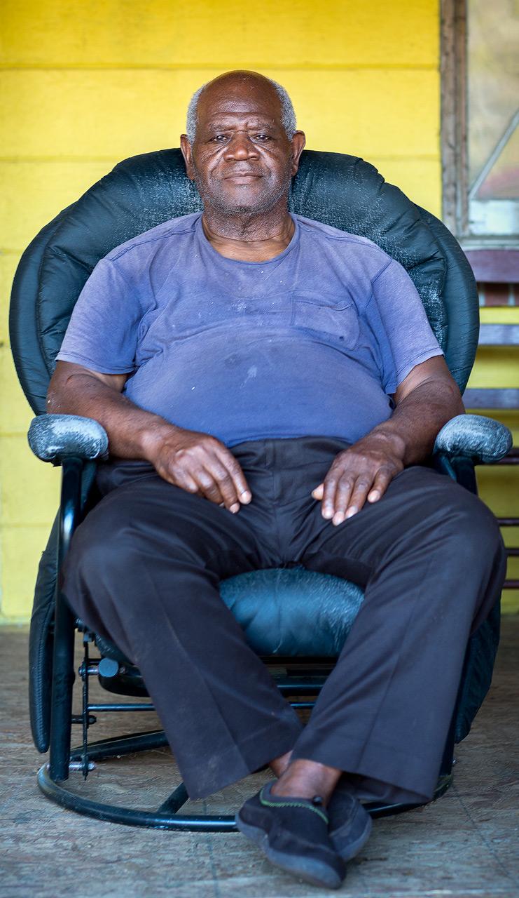 Reverend Middleton on his porch (Hollywood, SC)