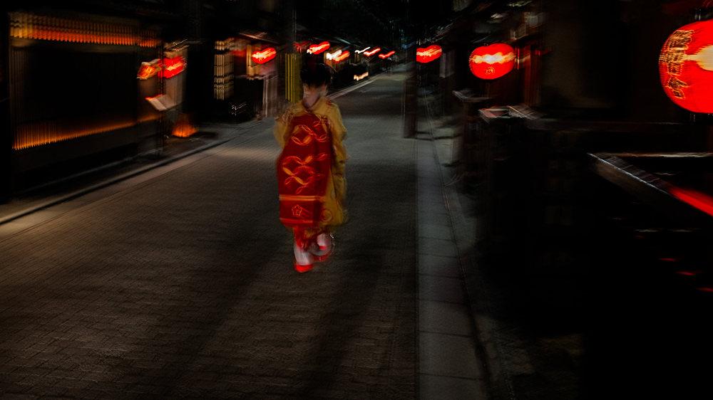 Geisha at Night