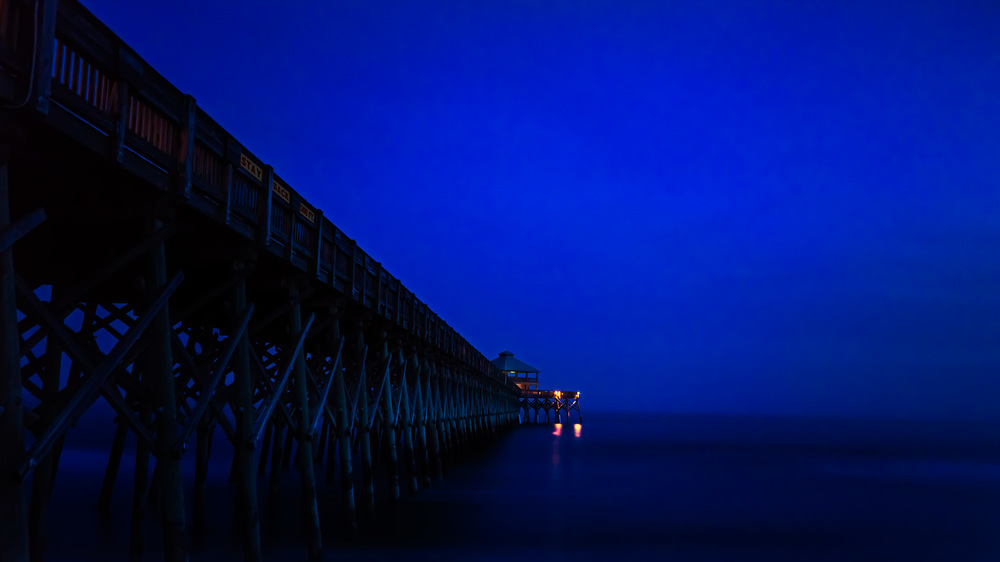 Folly Beach Pier at Twilight