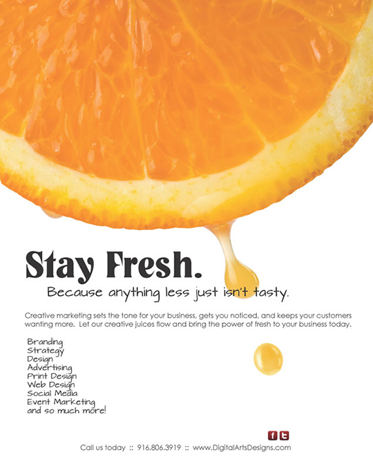 Dig Arts Stay Fresh Ad
