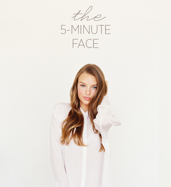 this simple and easy-to-follow tutorial from oncewed.com shows you how to achieve an organic makeup style for any occasion - from wedding to work this look is perfect! And the fact it only takes 5 minutes to do it doesn't hurt either.