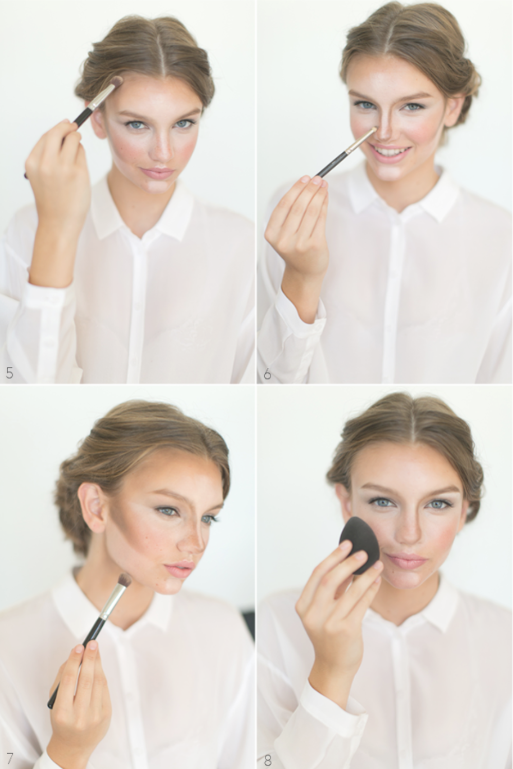 learn the art of contouring and highlighting in this detailed tutorial compiled by Amy Clarke for oncewed.com