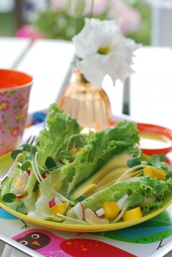 Mango Avocado Salad Dressed with Coconut Curry
