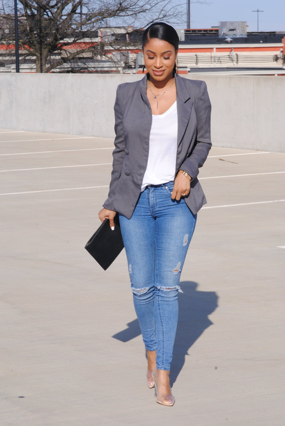 4. - Blazer and a pair of heels