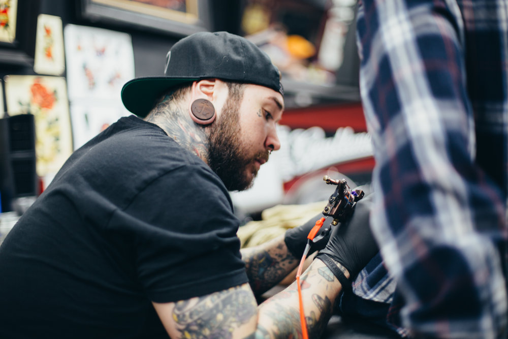 This is our tattooer, Sal. He was rad and down to earth.