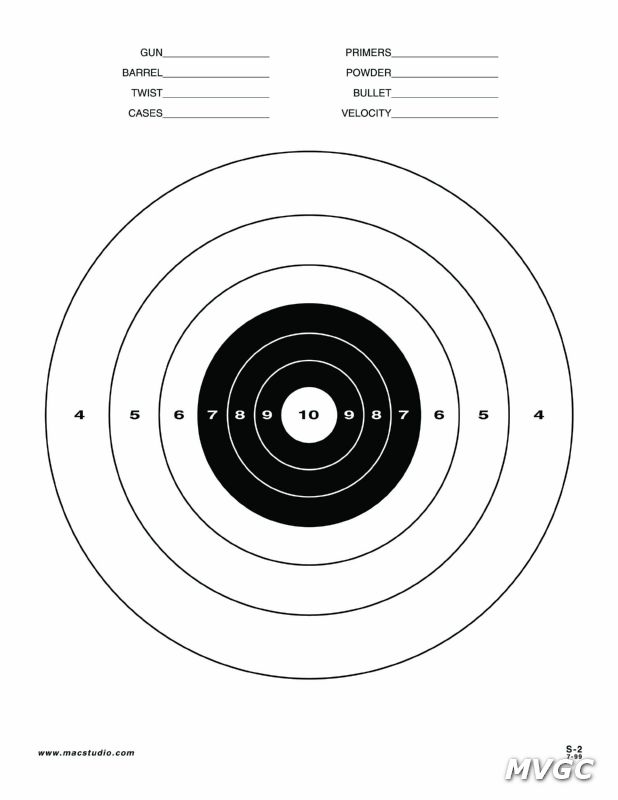 Printable 8.5 X 11 Targets For Shooting Printable targets