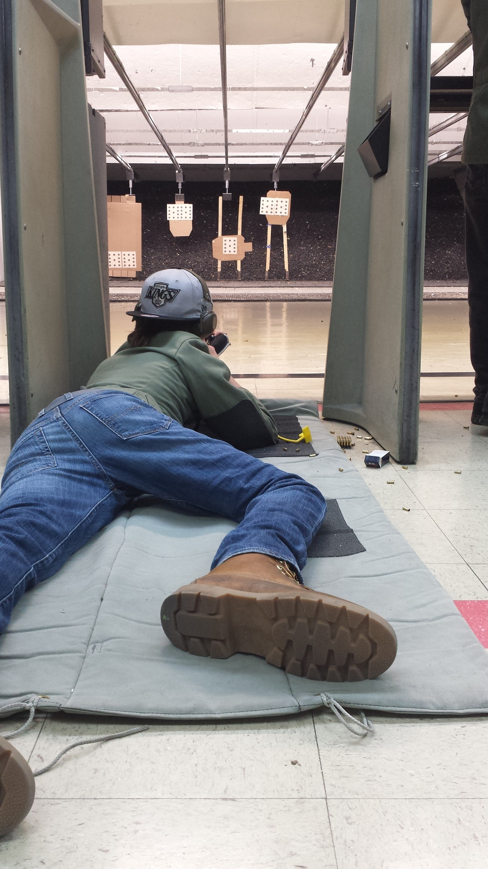 Ethan shooting prone