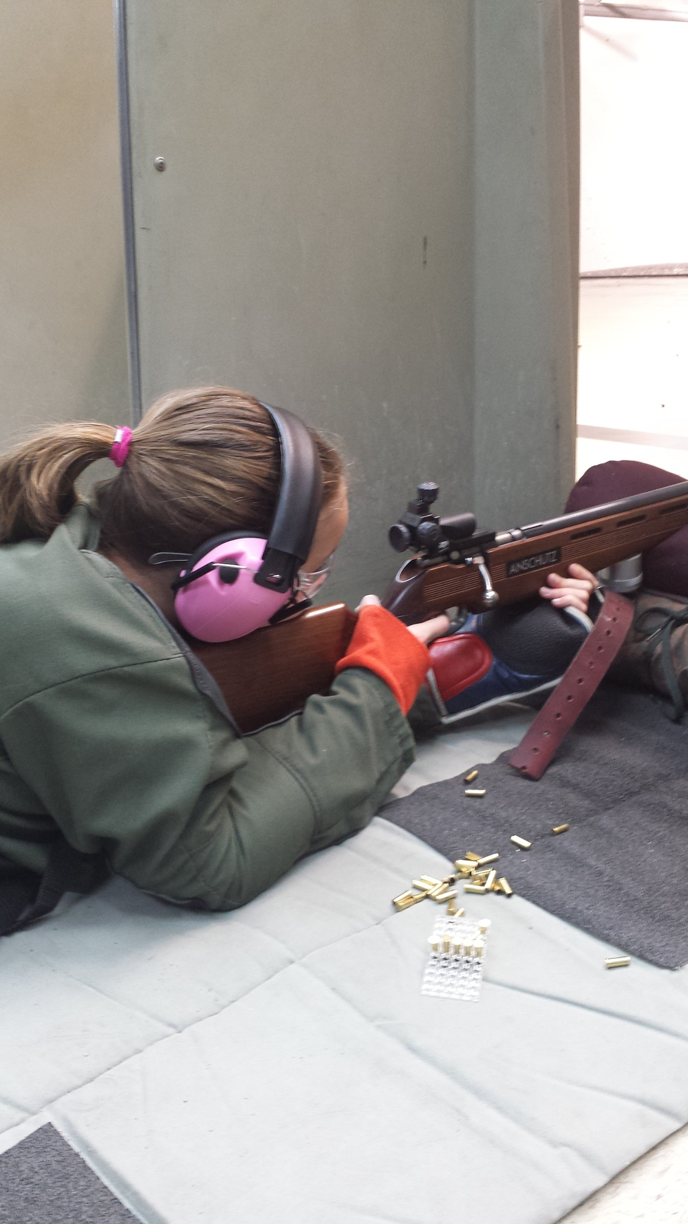 Tara shooting prone