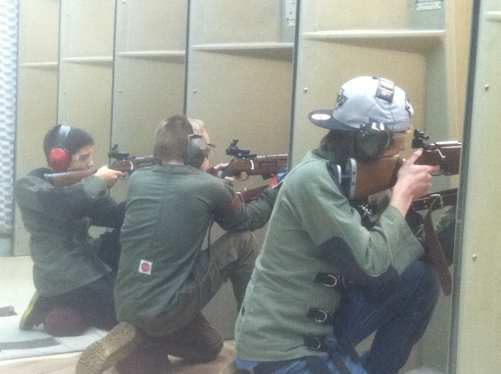 Dean, Jack, and Ethan shooting kneeling