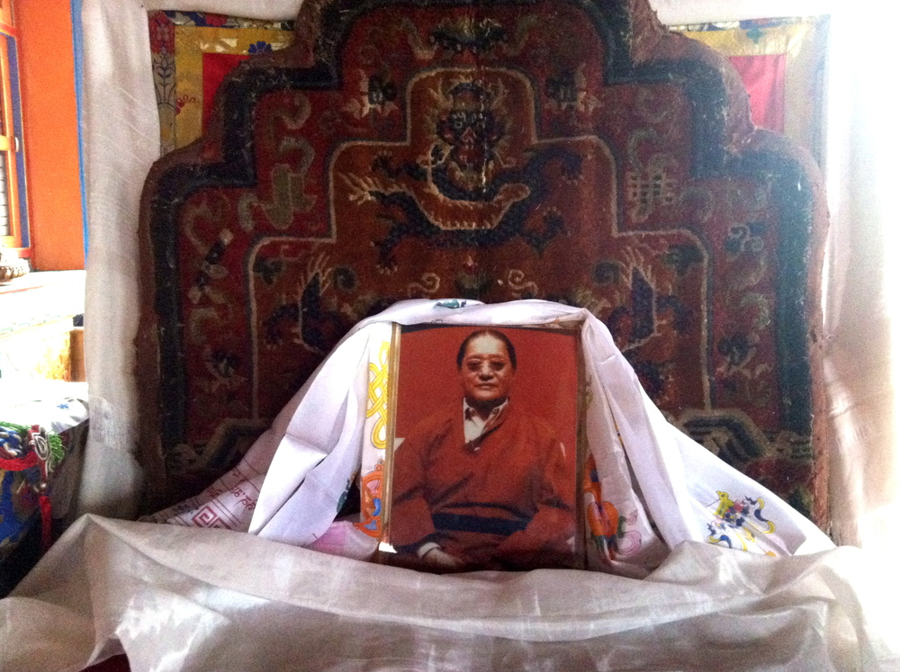 Original seat of His Holiness Dudjom Rinpoche from  Khorlo Dratsang (Upper Pemakod), now in Deden Tashi Choling Temple