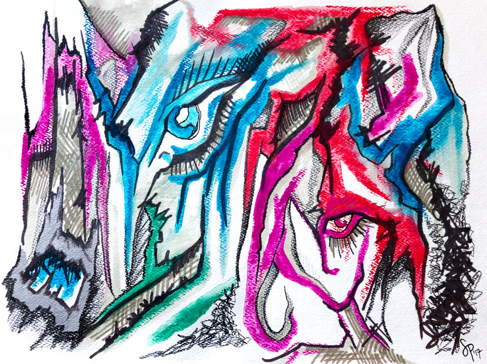 Cave Sketch with Marker