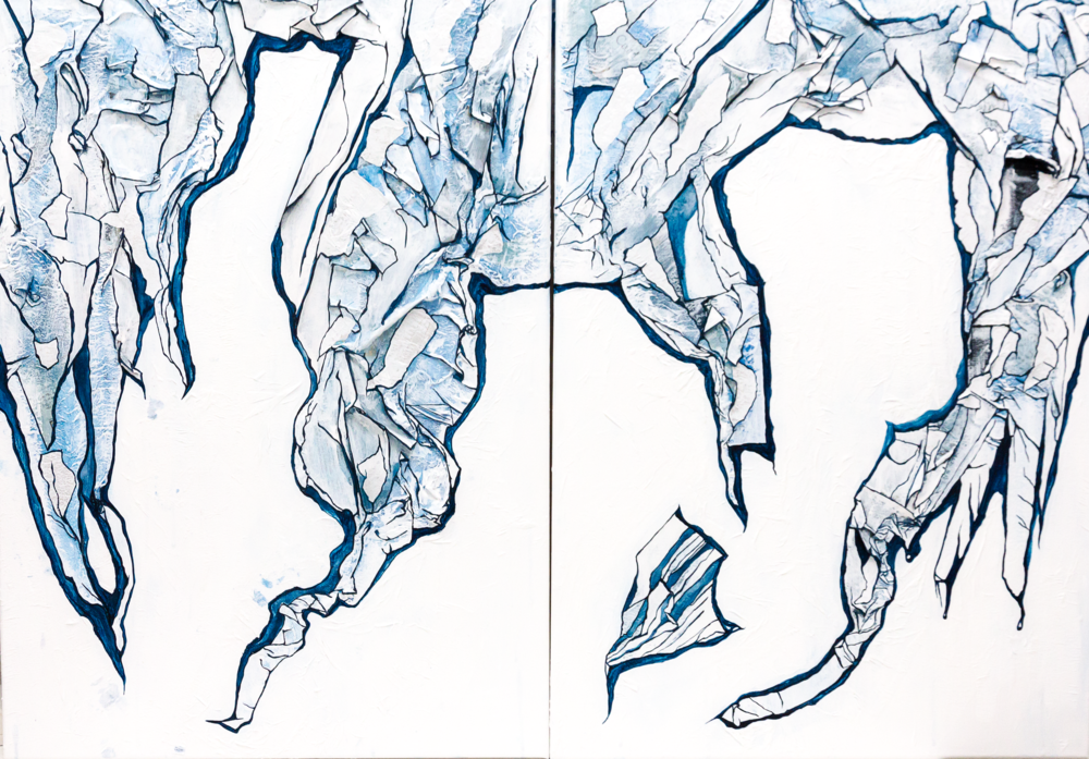 Ice Cave Diptych