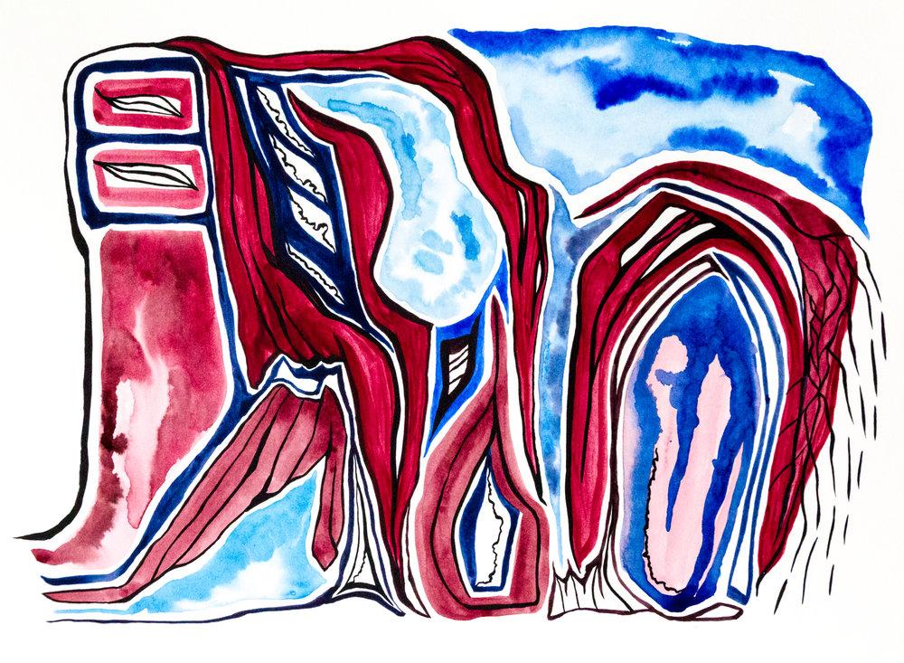 Red Vein Blue Vein