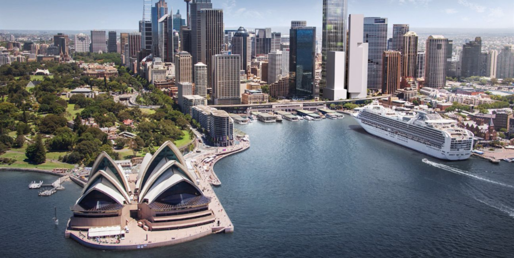Circular Quay Tower, Sydney North East Aspect Image Source: Lendlease Development Pty Limited