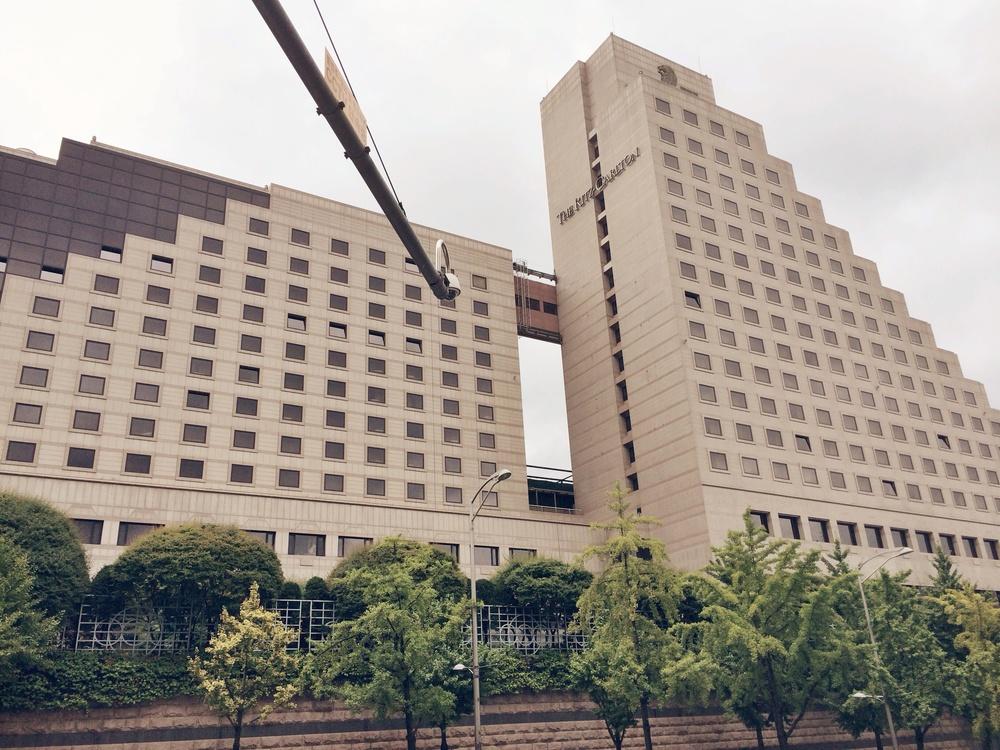 The massive Ritz Carlton Seoul hotel