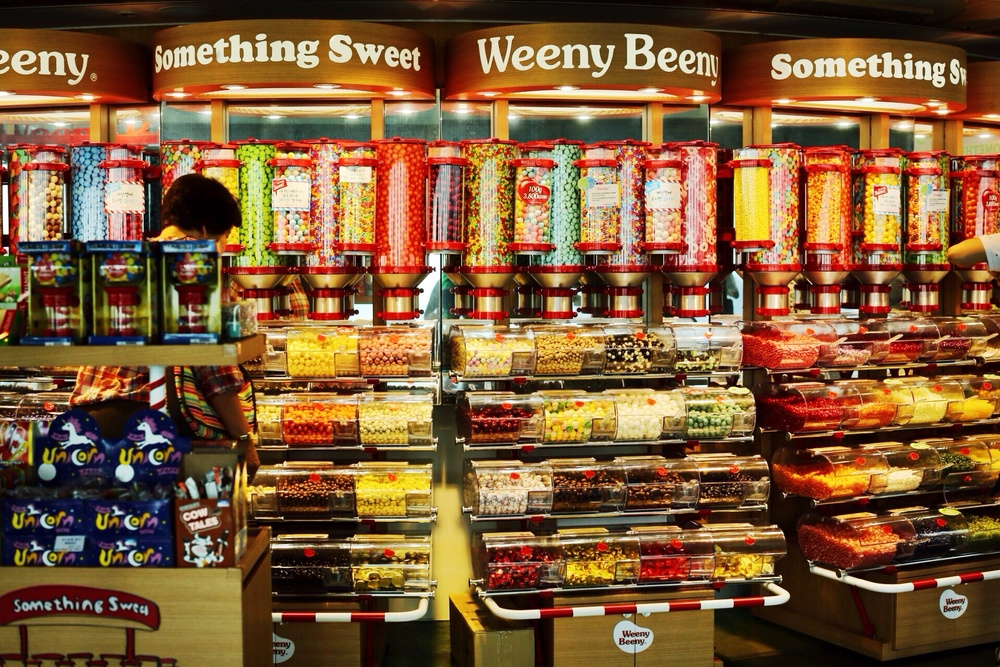 A tiny portion of the candy store