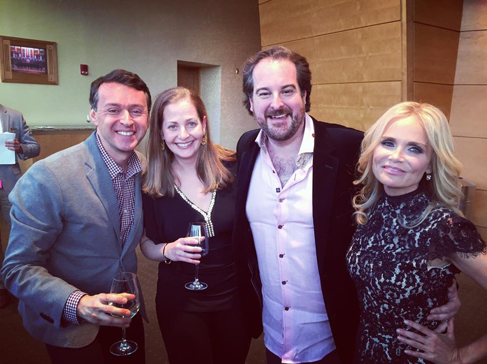 Composer/lyricist Andrew Lippa, Jacquie Sanz, Executive Producer Rolando Sanz, and star Kristin Chenoweth