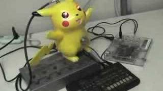 Bent Pikachu controlled by MIDI