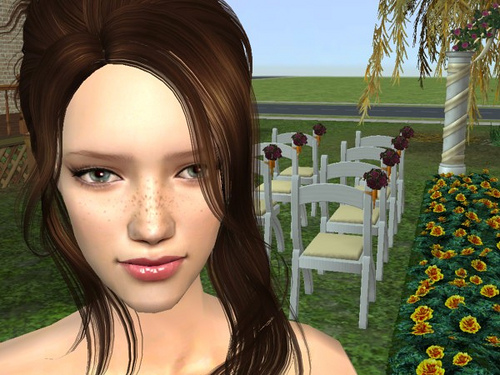 An in-game snapshot from a Sims 2 game