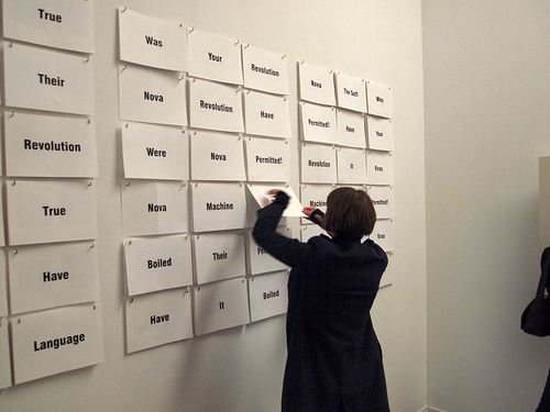 Interactive poetry at the William S. Burroughs exhibition --mihi_tr