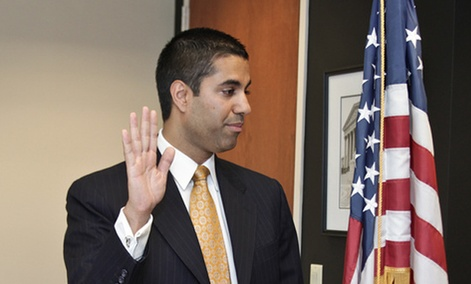 "Ajit Pai is swearing to ""to maximize the benefits of competition and innovation for all American consumers."""