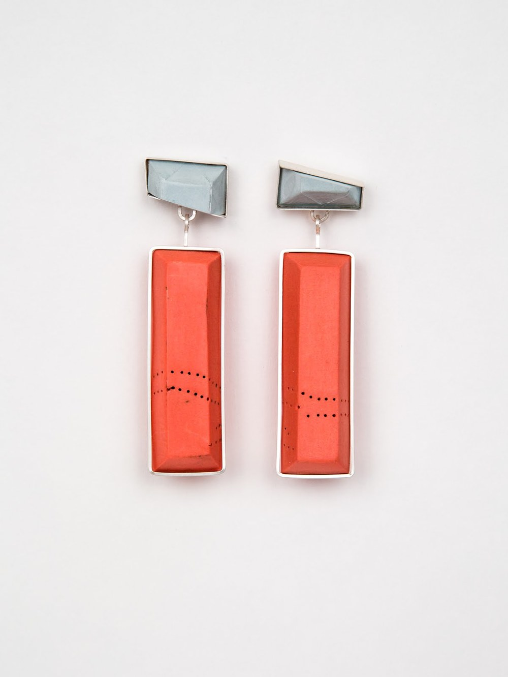 E6 McMahon, Shelly orange & gray earrings.jpg