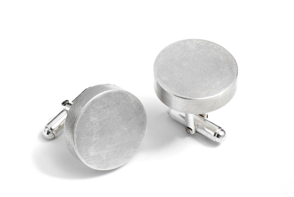 C1 Holden, Sarah round silver cufflinks.jpg