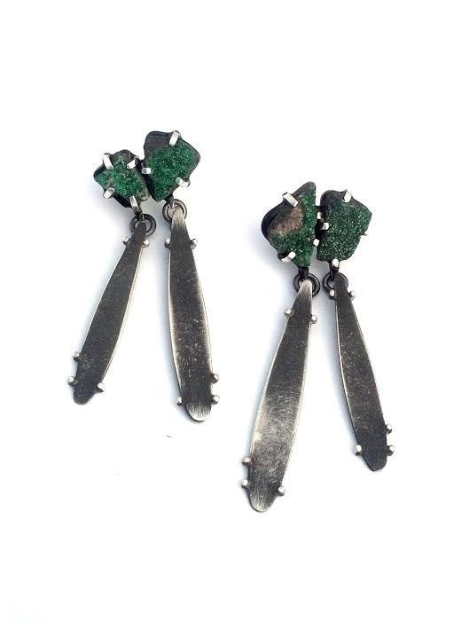 EE25 Wood, Laura double uvarovite stones with double dangles.jpg