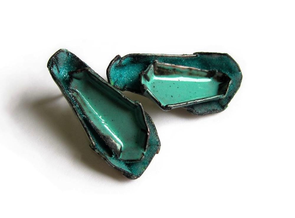 E3 Mess, K.: Barnacle No. 25, Flocked Turquoise, Mint _Earrings.2012.jpg