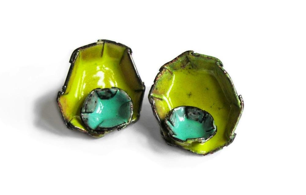 E6 Mess, K.: Barnacle No. 28, Mint, Chartreuse_Earrings.2012.jpg