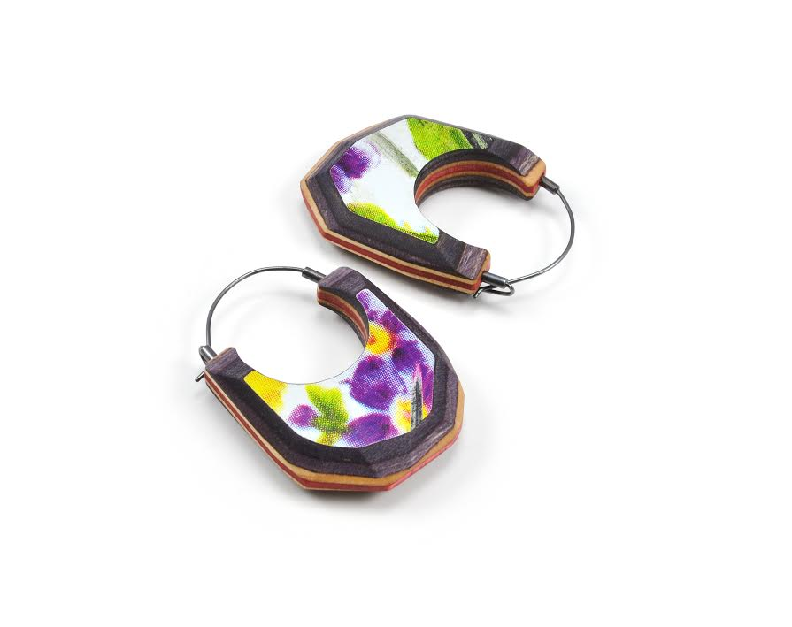 EE27 Locklear, Tara purple & yellow flowers gem hoops.jpg