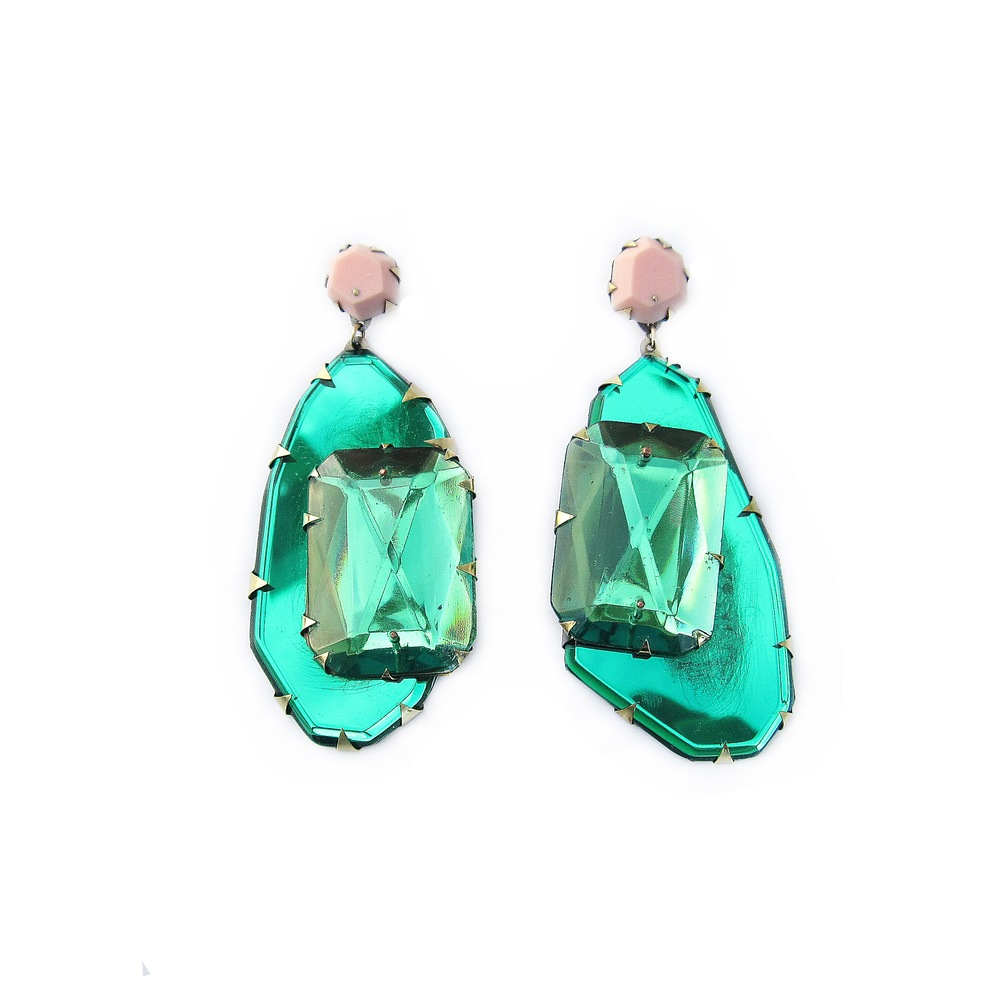 E1 Couppee, Nikki large oval emerald with large square emerald on top.jpg