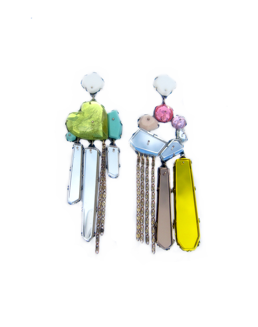 EE11 Couppee, Nikki green heart gem earrings, dangle.jpg