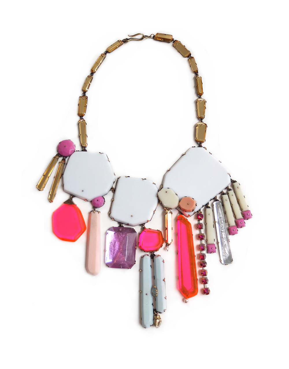 N2 Couppee, Nikki white & pink gem necklace.jpg